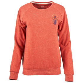 United By Blue Folk & Fauna Graphic Suéter Cuello Redondo Mujer, ember orange